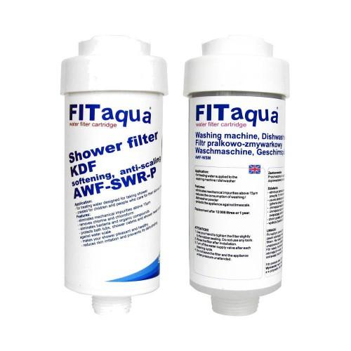 Zestaw filtr prysznicowy z KDF + Filtr pralkowo-zmywarkowy